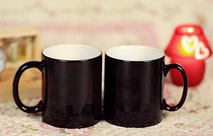 个性定制变色杯 马克杯 生日礼物 情人节礼物 节日礼物
