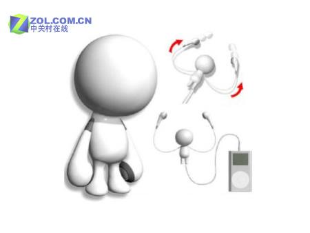 消息一,在日前于日本东京举行的玩具展上,Sega Toys公司与Avex Entertainment公司合推了一款iPod用附件,其实这款名为Mu-Bot的产品是一幅耳机,Mu-Bot玩具小机器人的两支手分别就是两个耳塞,使用时可以拉出长长