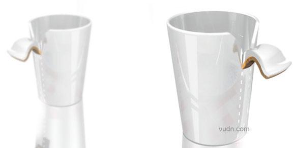 Ditted line这个瓷的咖啡杯带有一个木把手,可能,你一开始找不到把手在哪里,因为它看起来就像是被你撕下来的杯子的一部分,然而你会情不自禁把手放在那了Suck my bic可能每个人都有咬笔盖的习惯,Suck my bic有5种