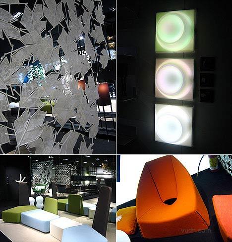 O-Lamp  O型灯 设计:byLisa Tavazzani & Adel Kassem.Ben Grimm模块椅 设计:Luca NichettoMaria 叶子形状的屏风 设计: Luca NichettoUbu 扶手椅  设计: Mario Guirdelli