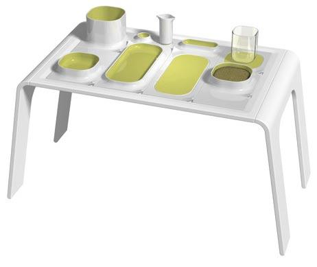 DESIGNKOOP是3位设计师创立的设计工作室,在瑞典、意大利、德国开展业务。为KPM设计的餐具整体套件。