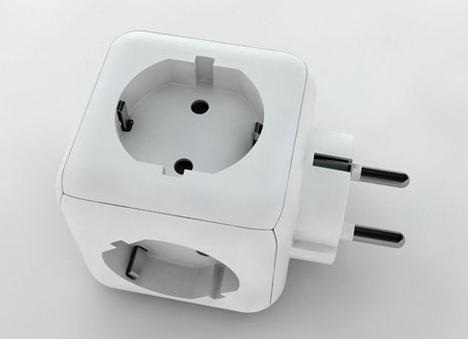 想把一个插座变成五个,最好的办法就是用插线板。其实,普通的转接头也能做到这一点。这个一拖五插头就是这样一款产品。