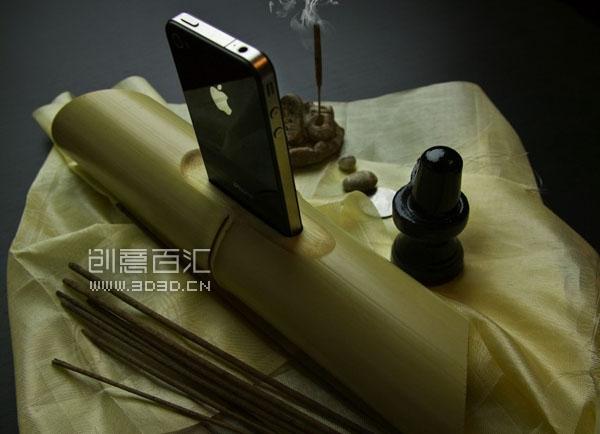 iBamboo speaker 竹子音乐底座 - 图2